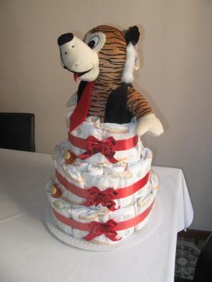 Cuarto pastel de pañales (Diaper Cake) 1.4
