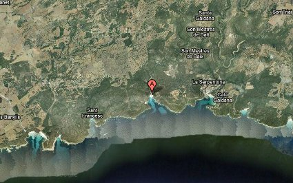Localización de Cala Macarella