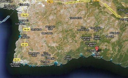 Localización Cala Galdana